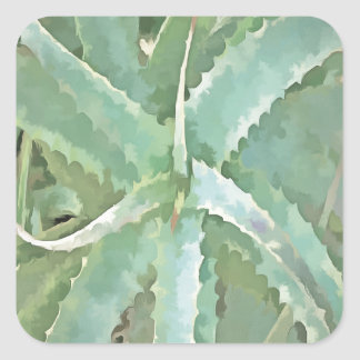 Amazing Aloe Vera Square Sticker