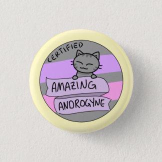 Amazing Androgyne 3 Cm Round Badge
