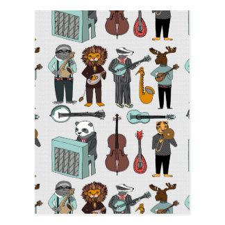 Amazing Animal Alphabet Band - Boy / Andrea Lauren Postcard
