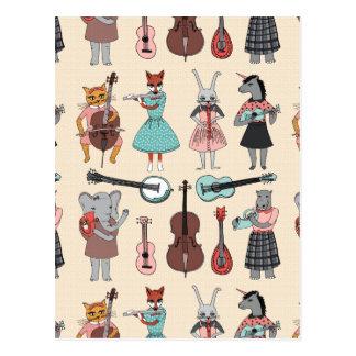 Amazing Animal Alphabet Band - Girl /Andrea Lauren Postcard