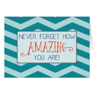 Amazing at College, Teal Chevron Stripes Card