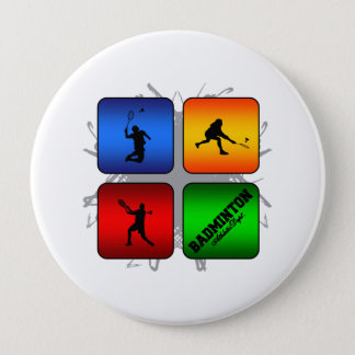 Amazing Badminton Urban Style 10 Cm Round Badge