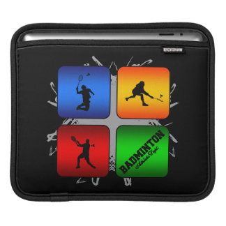 Amazing Badminton Urban Style iPad Sleeve