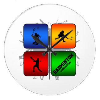 Amazing Badminton Urban Style Large Clock