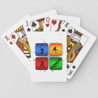 Amazing Badminton Urban Style Playing Cards