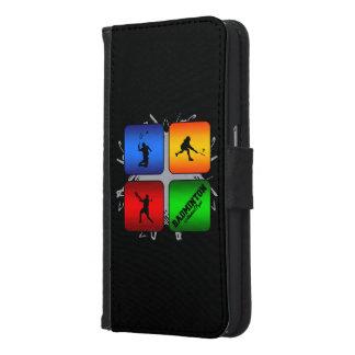 Amazing Badminton Urban Style Samsung Galaxy S6 Wallet Case