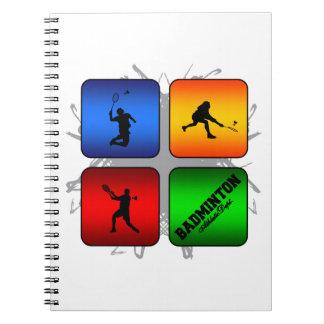 Amazing Badminton Urban Style Spiral Notebook