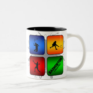 Amazing Badminton Urban Style Two-Tone Coffee Mug