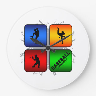 Amazing Baseball Urban Style Large Clock