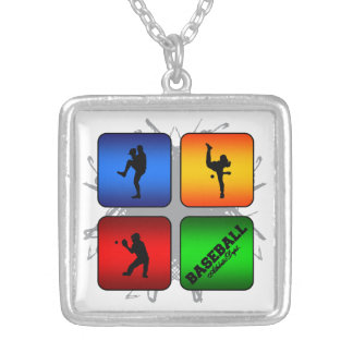 Amazing Baseball Urban Style Silver Plated Necklace