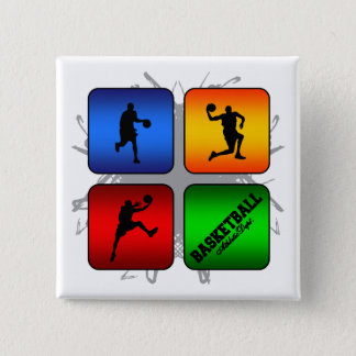 Amazing Basketball Urban Style 15 Cm Square Badge