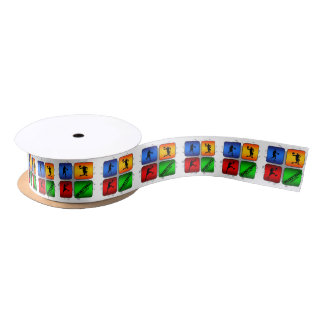 Amazing Basketball Urban Style Satin Ribbon