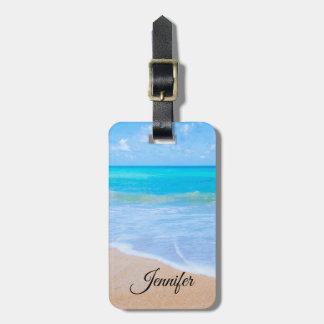 Amazing Beach Tropical Scene Photo Luggage Tag