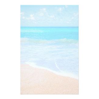 Amazing Beach Tropical Scene Photo Stationery