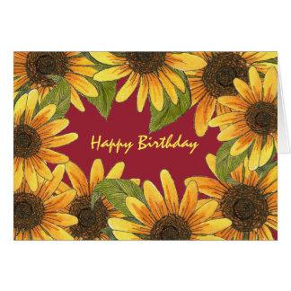 Amazing Birthday Card with Sunflowers