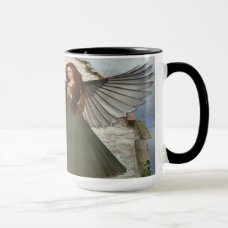 Amazing Black 15 oz Combo Mug In Angel Design