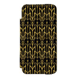 Amazing Black-Gold Art Deco Design Incipio Watson™ iPhone 5 Wallet Case