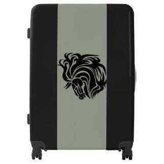 Amazing Black Horse Large Sized Luggage Suitcase