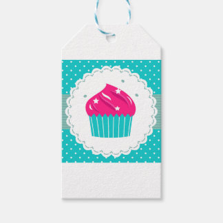 Amazing blue Cupcake pink blue Gift Tags