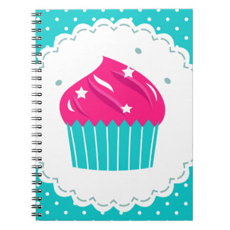 Amazing blue Cupcake pink blue Spiral Notebook