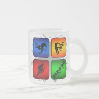 Amazing BMX Urban Style Frosted Glass Coffee Mug