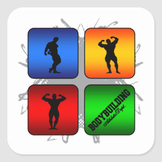Amazing Bodybuilding Urban Style Square Sticker