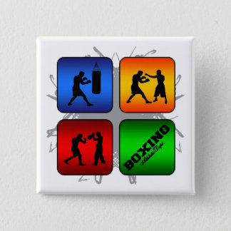 Amazing Boxing Urban Style 15 Cm Square Badge