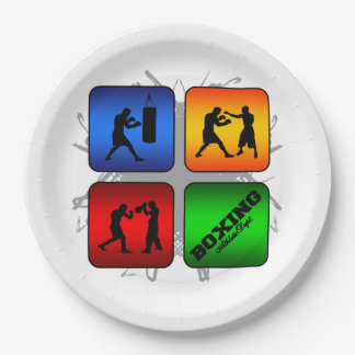 Amazing Boxing Urban Style Paper Plate