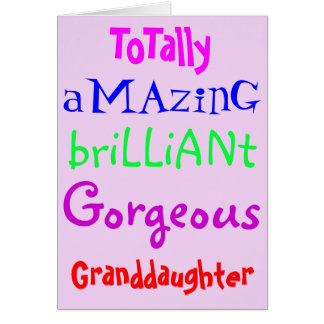 Amazing Brilliant Gorgeous - Personalised Birthday Card