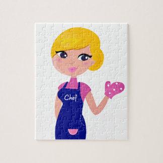 Amazing Chef Girl art illustration : TSHIRTS Jigsaw Puzzle