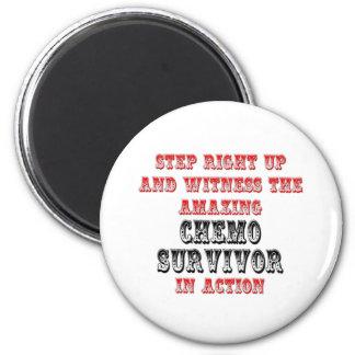 Amazing Chemo Survivor In Action Magnet
