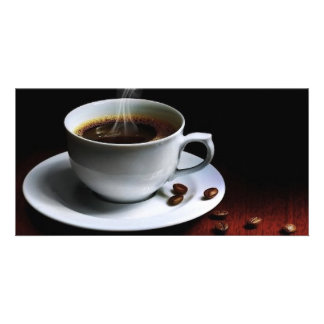 Amazing coffee photo-1 picture card