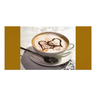 Amazing coffee photo picture card
