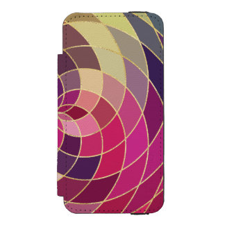 Amazing Colorful Abstract Design Incipio Watson™ iPhone 5 Wallet Case