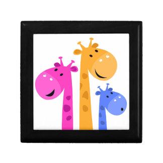 Amazing colorful Giraffe edition Small Square Gift Box