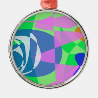 Amazing Design Silver-Colored Round Decoration