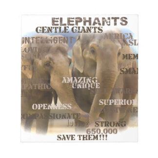 Amazing Elephants Notepad - 40 pages