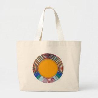 Amazing EMBLEM type DISC Golden DISK n BORDER Canvas Bag