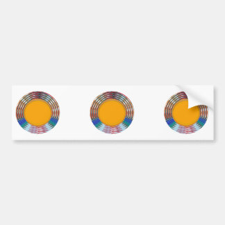 Amazing EMBLEM type DISC Golden DISK n BORDER Car Bumper Sticker