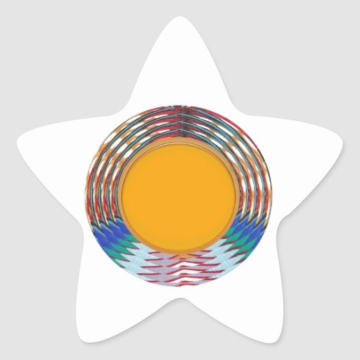 Amazing EMBLEM type DISC Golden DISK n BORDER Star Stickers