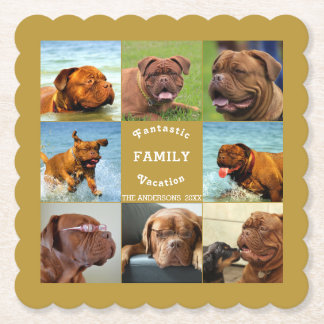 Amazing Family Trip Editable Photo Template Paper Coaster