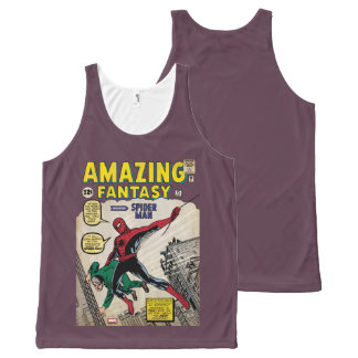 Amazing Fantasy Spider-Man Comic #15 All-Over Print Singlet