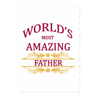Amazing Father 13 Cm X 18 Cm Invitation Card