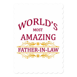 Amazing Father-In-Law 13 Cm X 18 Cm Invitation Card