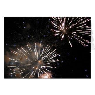 Amazing Fireworks Greeting Card
