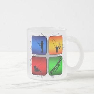 Amazing Fishing Urban Style Frosted Glass Coffee Mug