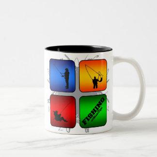 Amazing Fishing Urban Style Two-Tone Coffee Mug