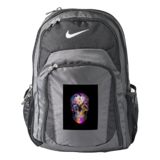 Amazing Floral Skull A Backpack