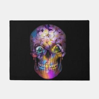 Amazing Floral Skull A Doormat