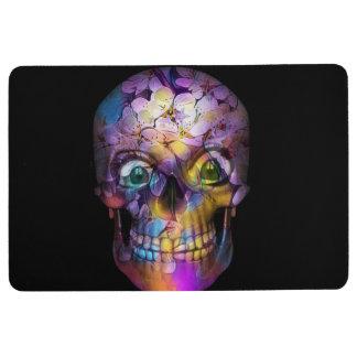Amazing Floral Skull A Floor Mat